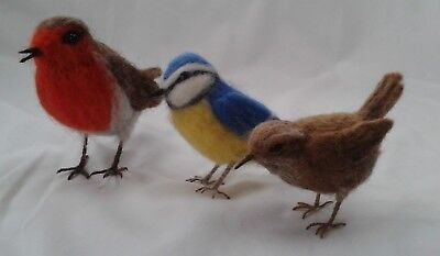 Needle felting kit British Birds British Wool