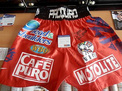 MANNY PACQUIAO / MIGUEL COTTO / Dual Signed Replica Fight Night Trunks/Shorts