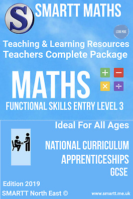 Functional Skills Entry 3 Maths & English Completed Teacher/Tutor Package