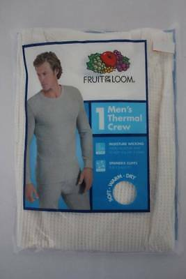 Mens Thermal Underwear Waffle Knit Shirt XL Off-White Top Long Johns Wicking