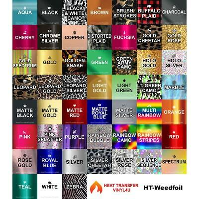 """Stretchable WeedFoil Iron On Heat Transfer Vinyl ( 20"""" x 12"""") **FREE SHIPPING**"""