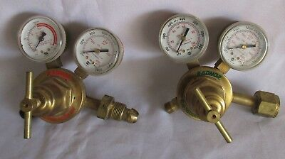 RADNOR Cutting Welding Torch Regulators, Oxygen 250-80-540, Acetylene 250-15-510
