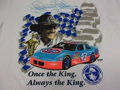 Vintage 90s Richard Petty #43 STP Once the King Always the King T-Shirt Mens XL