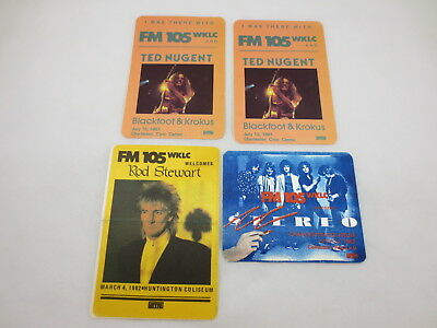 Vintage LOT Rock Concert Patches Huntington WV 1980's TED NUGENT ROD STEWART