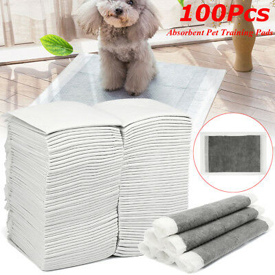 100Pc 45x33cm Puppy Pet Dog Cat Toilet Pee Training Pads Super Absorbent Diapers