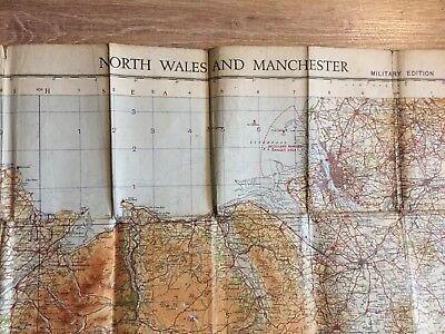 Alter Plan NORD WALES AND MANCHESTER ENGLAND von 1935 Military Edition 1:253440
