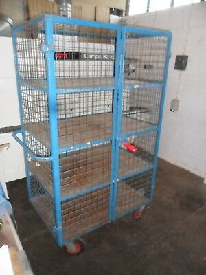 Very Good Warehouse Stock Industrial Trolly By Action Handling 4 Metal Shelves