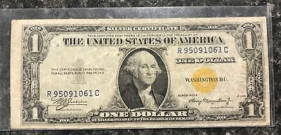 1935-A $1 North Africa Silver Certificate Yellow Seal Note ~ Xf Condition! Nr!