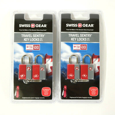 Swiss Gear Travel Sentry Key Locks TSA Approved Luggage Locks NEW SET OF 4