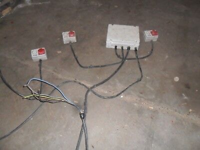 Useful 3 Phase Ring Main With 3 Machine Sockets Joining Board 30Ft Armour Feed