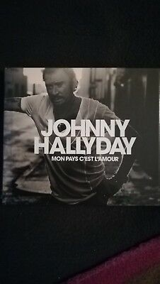 Cd Collector + Livre Mon Pays C'est L'amour Johnny Halliday Neuf Emballe.