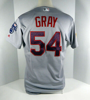 5a656dad2 2016 Oakland Athletics A s Sonny Gray  54 Game Used Grey 4th of July Jersey
