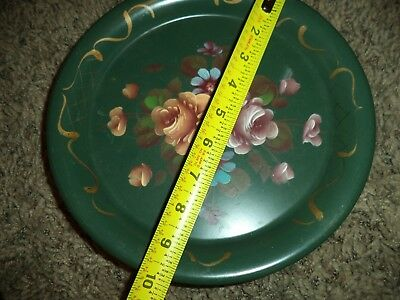 Antique Vintage RARE Shabby CHic Painted Metal Tole Toleware WALL POCKET Tray
