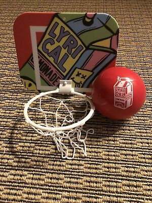 Lyrical Lemonade Mini Basketball Hoop with stickers and adhesive; Cole Bennett