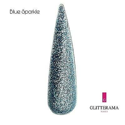 Blue glitter acrylic powder Glitterama Nails Blue Sparkle
