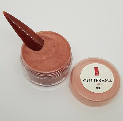 Brown red coloured acrylic powder Glitterama Moulin Rouge