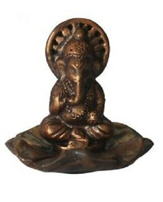 Ganesh Clay Incense Burner Stick Cone Holder Home Decor Fragrance Relaxation