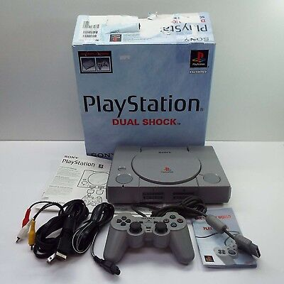 Sony Playstation 1 Console System In Box Ps1 Scph-7501 (Look Description) T110