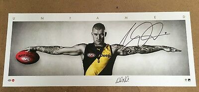 Dustin Martin Richmond Tigers Hand Signed Wings Afl Official Print Cotchin Rance