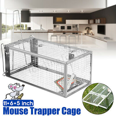 2x Rat Cage Trap Humane Live Animal Catcher Rodent Pest Control Indoor/Outdoor