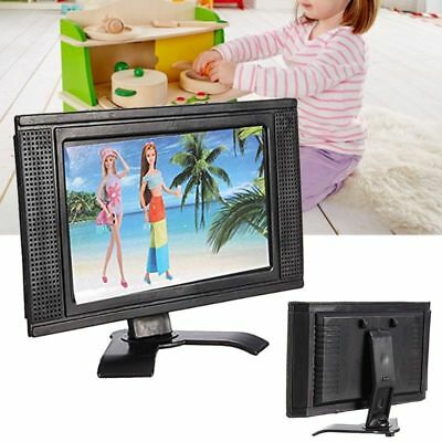 LCD TV Doll Toy Structures Accessories For Barbie Doll House Furniture Toy H09