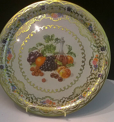 """Daher Decorated Ware """"fruits And Wine Style #825"""" 10"""" Tray"""