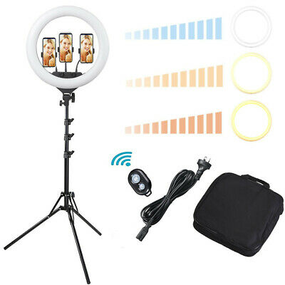 "19"" Dimmable LED Ring Light Kit w/ Stand Photo Video Studio Makeup 3200-5500K"