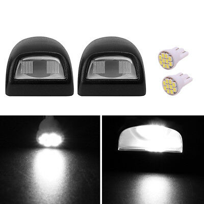 1999-2014 Silverado Sierra Pickup SUV Black License Plate Light Lenses -Pair (2)