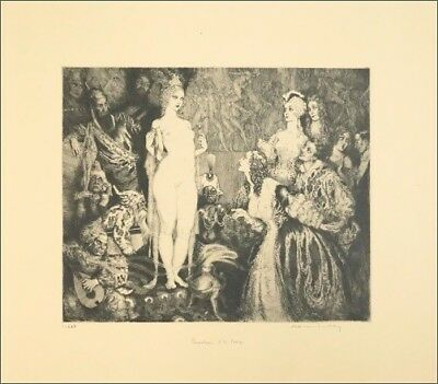 NORMAN LINDSAY's 1934 'Priestess to the Magi' Ltd Edt Facsimile Etching 354/550