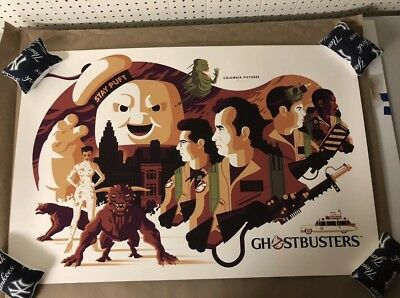 MONDO - Ghostbusters - Tom Whalen Poster Print SDCC 2018 Bill Murray IN HAND