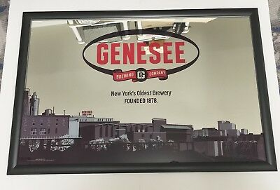 """Genesee New York's Oldest Brewery Beer Mirror 36x24"""" - Brand New In Box RARE!!"""