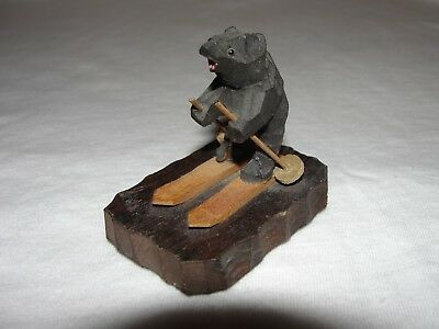 Bear on Skis Yellowstone National Park Souvenir, Knick Knack, Nik Nak