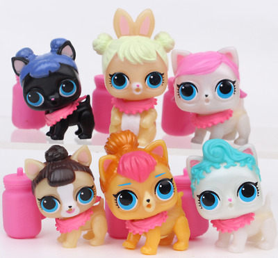 6 PCS LOL Surprise doll FUZZY PETS Makeup Series 5 Collection Gift