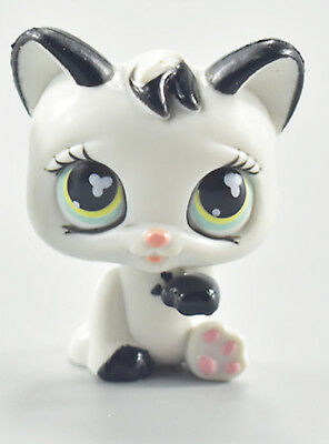 LPS Toys Cute White Cat Kitten Littlest Pet Shop Collection Action Figure Toys