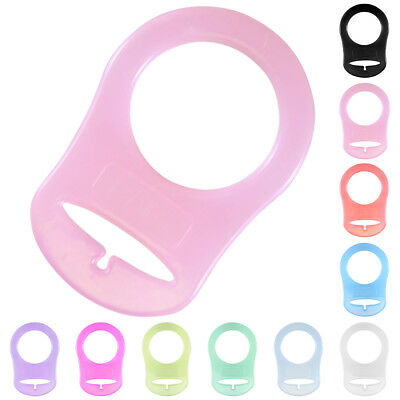3 Pcs Silicone Ring Button Pacifier Holder Clip Dummy Adapter For MAM For NUK