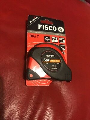FISCO 5m/16' New BIG T Professional Metric/Imperial Builders Tape Measure,BT5ME