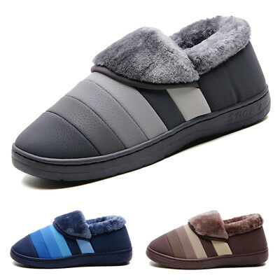 Men's Winter Warm Causal Shoes Indoor House Slippers Soft Home Plush Cozy Shoes