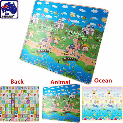 Kid Baby Child Play-mat Cushion  Rug Mat Crawl Ocean Animal 200x180x2cm OCUSH32