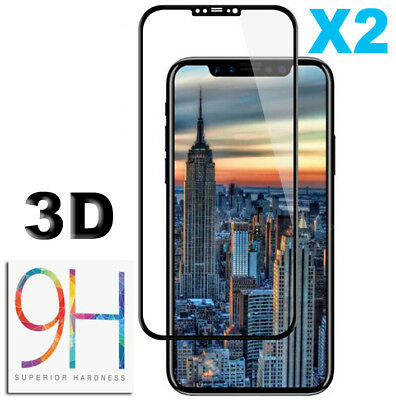 iPhone X XS XS Max XR Vitre VERRE trempé Film Protection d'écran Glass Tempered