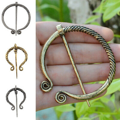 Celtic Viking Brooch Buckle Medieval Hollow Pin Cloak Clasp Jewelry Vintage