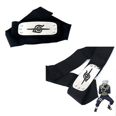 Hot Naruto Uchiha Itachi Black Leaf Village Konoha Ninja Headband Cosplay Anime