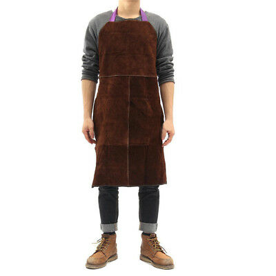 65x90cm Leather Welding Apron Welder Heat Insulation Welder Protective Apron