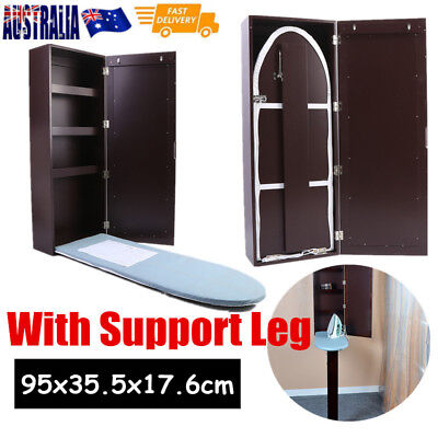 Cabinet Ironing Board Built In Hide Away Storage Shelf Wall Mount With Mirror OZ