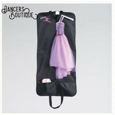 """""""Love Dance"""" Costume Carrier Garment Bag for Dancers and Performers Black"""
