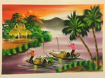 Watercolour Painting Hand Painted In Vietnam - Watercolor - L8