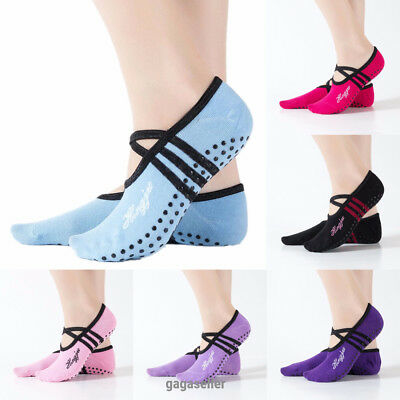 Yoga Socks Non Slip Pilates Massage Ballet Socks With Grip Gym Exercise 1 Pair