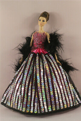 Fashion Party Dress/Wedding Clothes/Gown For 11 in. Doll d31