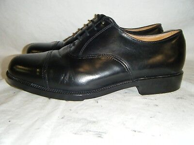 Mens Black Leather Parade Shoes British Army RAF Cadet With Toe Cap Size 7 M (2