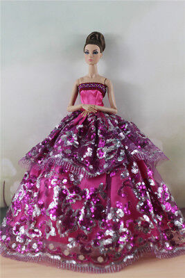Fashion Party Dress/Wedding Clothes/Gown For 11 in. Doll d39