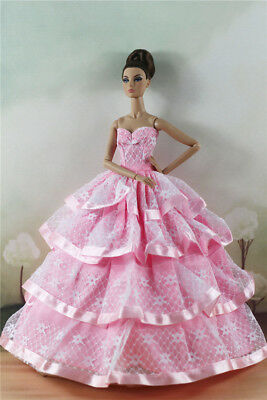 Fashion Party Dress/Wedding Clothes/Gown For 11 in. Doll d41